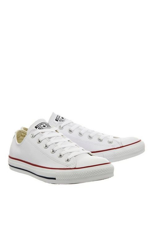 c1c1c44508a Womens   All Star Low Leather Trainers by Converse supplied by Office -  White