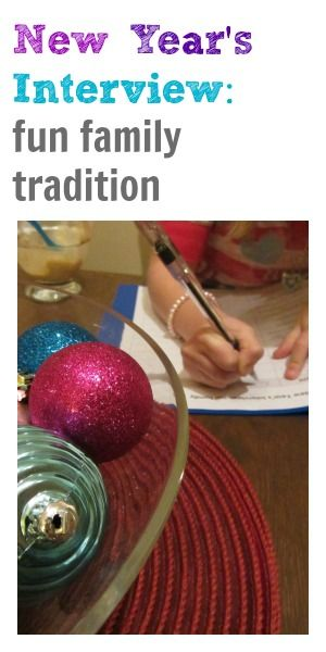 the NEW new year's interview: fun family tradition #weteach
