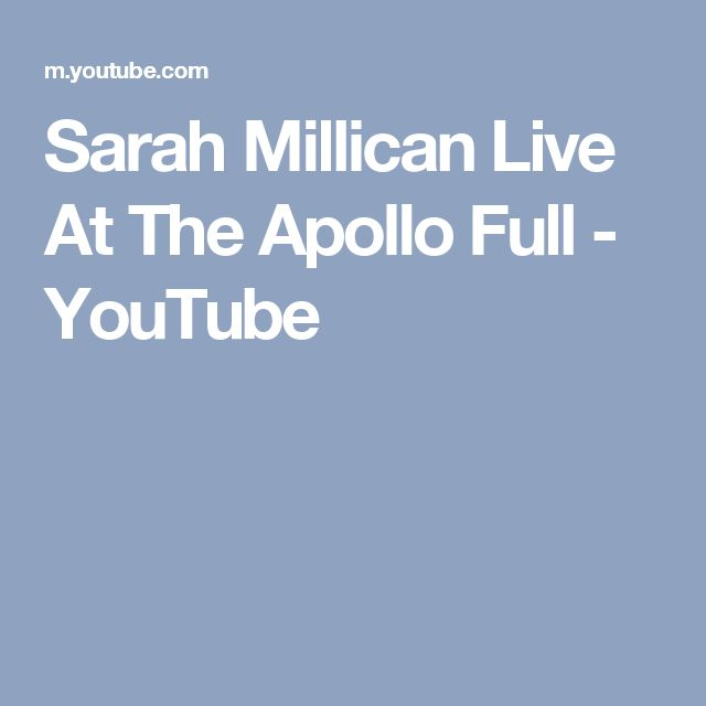 Sarah Millican Live At The Apollo Full - YouTube