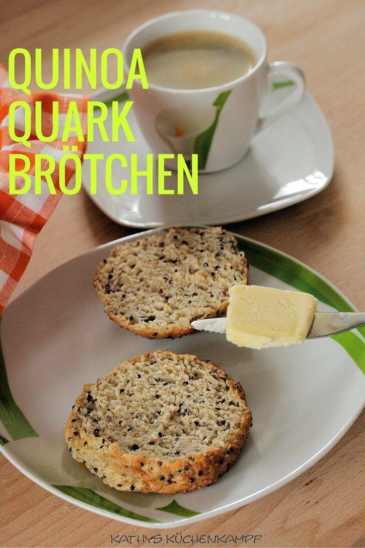 Lust auf ein Low-Carb-Frühstück? Wie wäre es dann mit diesen leckeren Quinoa-Quark-Brötchen? Schnell zubereitet und gesund.