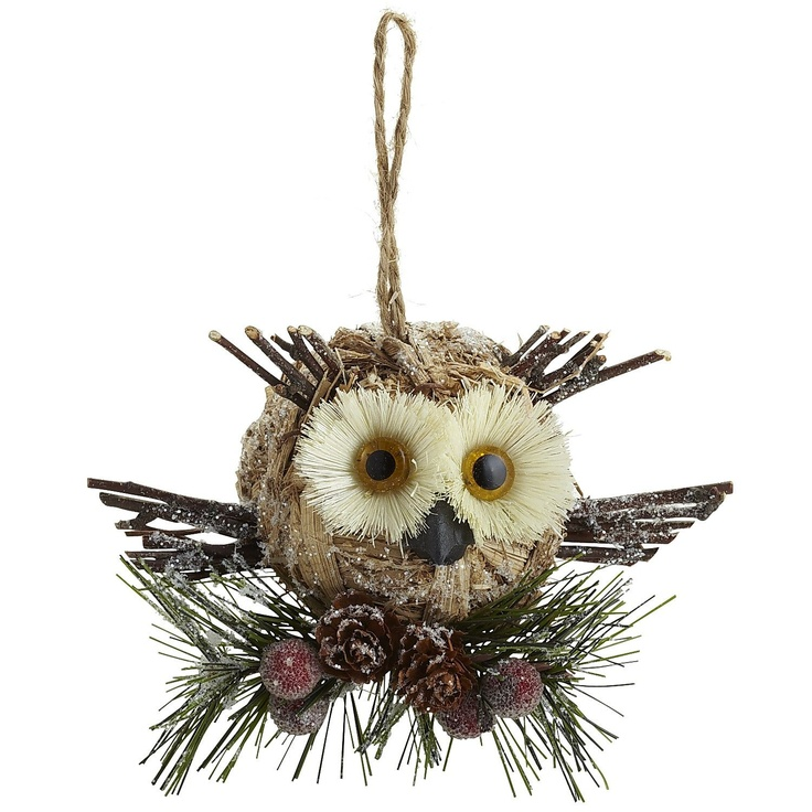 Pier 1 Natural Owl Ornament