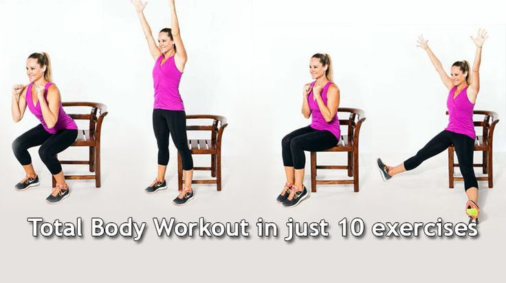 Want to begin working out? All you need is a sturdy chair with a high back. Follow these exercises designed for beginners by certified trainer Jessica Smith
