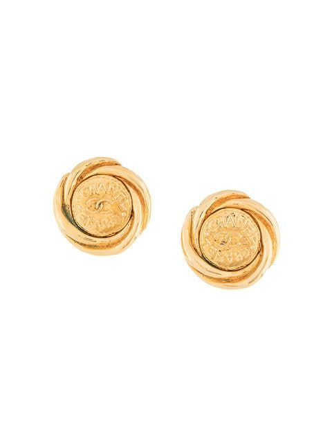 97a260101857 Chanel Vintage CC Button Earrings - Farfetch | Accessories/Jewlery ...