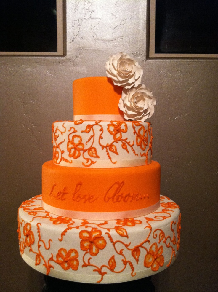 wedding cake orange 17 best images about coral amp orange wedding cakes on 23347