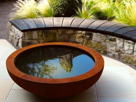 The Lily Bowl - Society of Garden Designers Product of the Year 2015- corten steel