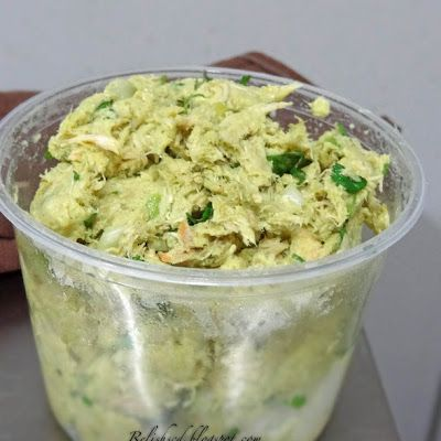 Avocado Chicken Salad- so very good and really easy