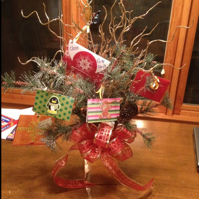 139 best gift card trees and gift card wreaths images on pinterest gift card tree for teacher negle Choice Image