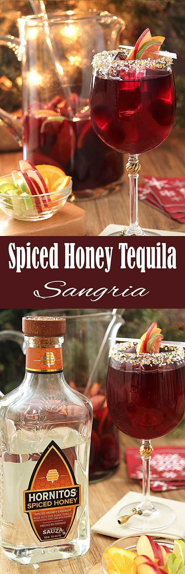 This Spiced Honey Tequila Sangria was a leap of faith and a great one; perfect party fare! #ad #NotJustAnyLife #NotJustAnyTequila