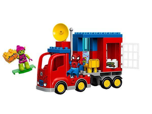 Enferme le Bouffon vert dans le spectaculaire camion araignée de Spider-Man !