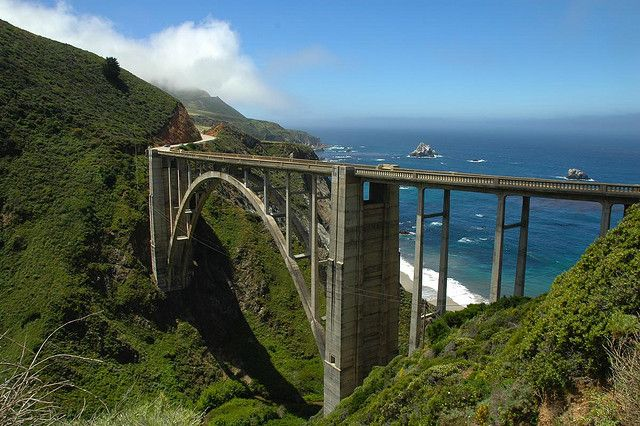 Bixby Bridge on the Pacific Coast Highway between Big Sur and Carmel, California