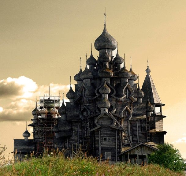 Transfiguration Church, all wood and not a single nail. Kizhi Island Russia