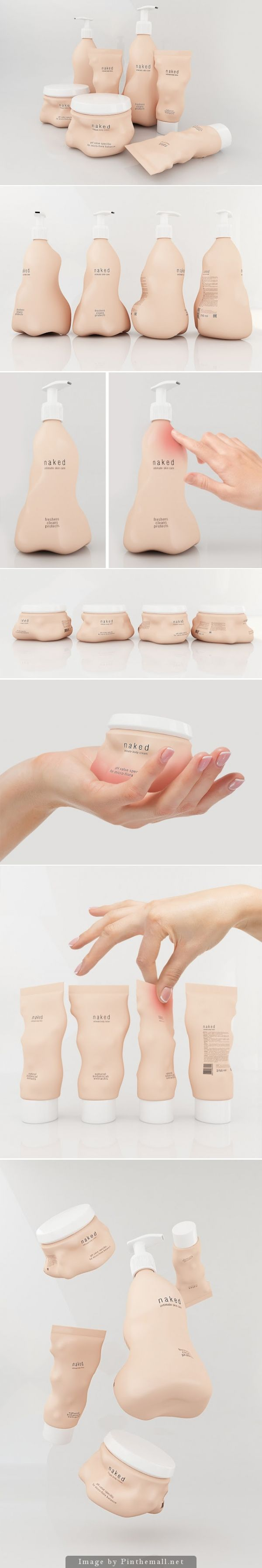 Naked - Intimate Care Products #Concept #packaging reacts to touch - http://www.packagingoftheworld.com/2014/11/naked-intimate-care-products-concept.html