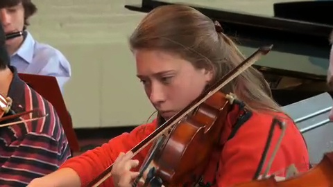 Here's a picture of a talented Groton School Student violinist.  This was from an admissions video we created for the Groton School in Groton, CT.