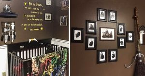 Some Harry Potter fanatics created a child's bedroom in the style of their favorite saga