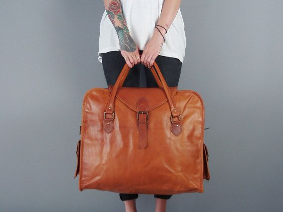 The Vagabond Extra Large in Tan: Vintage style by VintageChildShop