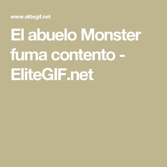 El abuelo Monster fuma contento  - EliteGIF.net