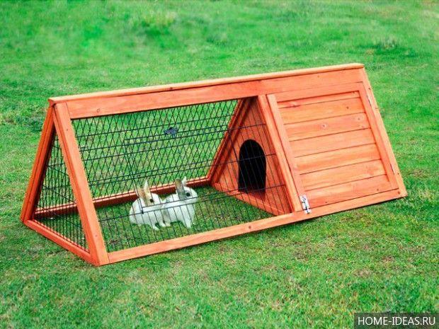 Клетки для кроликов своими руками: чертежи, размеры и фото