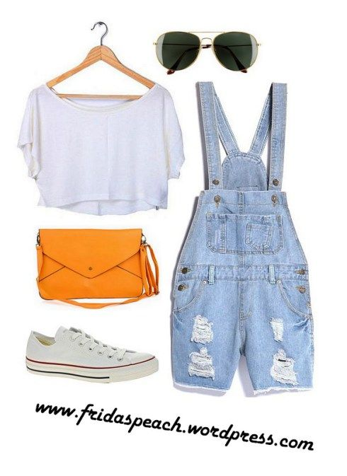 Time for festivals! Outfit with rompers/jumpsuit, crop top, Converse All Stars & an envelope clutch.