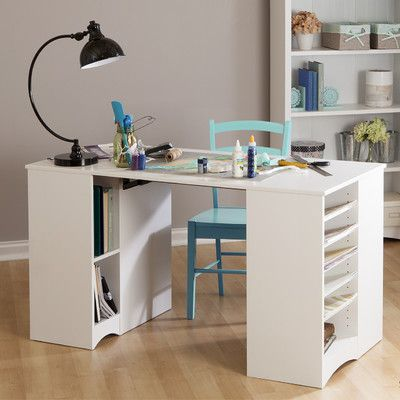 South Shore Artwork Craft Writing Desk With Storage