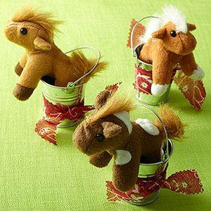 Fun Animal Birthday Party Themes: Horse Party: Favor (via Parents.com)