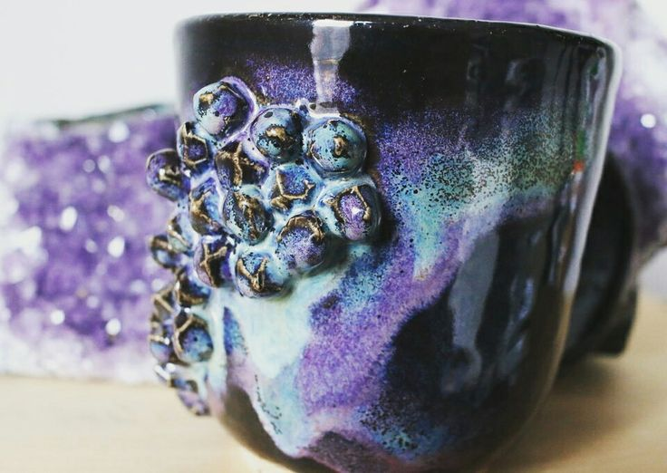 Amaco glaze, first obsidian, smokey Merlot and then seaweed @ www.etsy.com/shop/ketherly