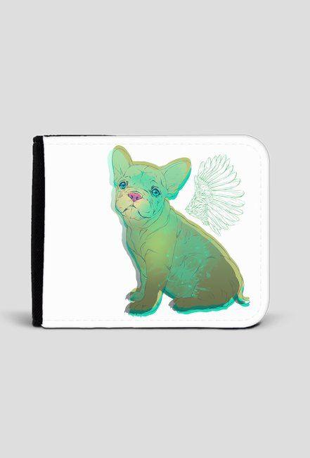 print on wallet, french bulldog, dog