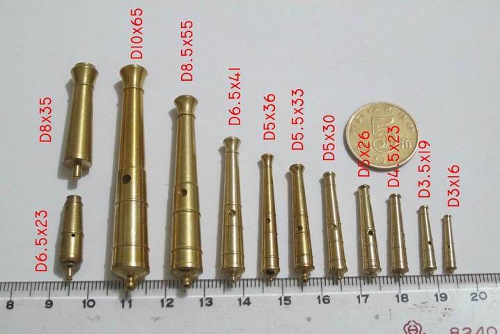 Envío libre modelo de nave de juego mejorada accesorios CNC cañones de bronce 10 unids/lote 9 tamaño puede elegir en Kits de Edificio modelo de Juguetes y Pasatiempos en AliExpress.com | Alibaba Group