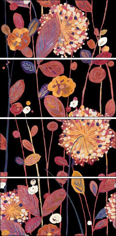 Midori-4 Negro Estampado Floral