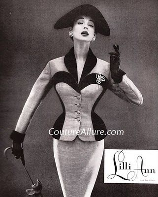 Lilli Ann coats and Suits - 1950s  The hats a little too much but the suit is elegant.