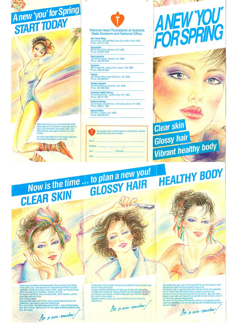National Heart Foundation of Australia #health #pamplet #80's #catalogue