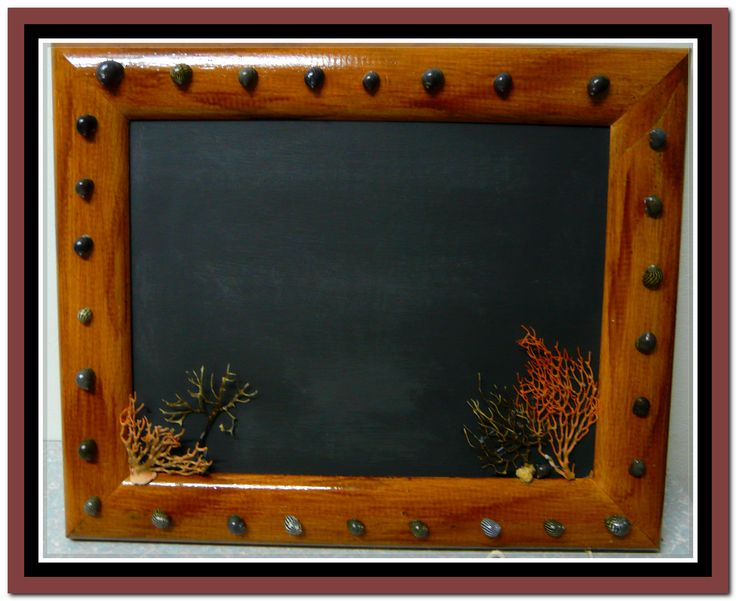 This used to be an old cupboard door.Took the hinges & handle off, painted it with chalkboard paint & decorated the frame.Ready to hang & write!