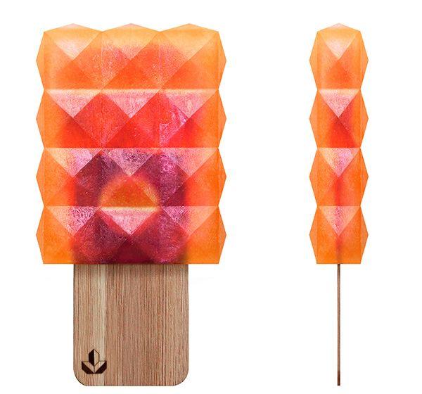 La agencia alemana Neubau ha desarrollado la imagen de marca de Nuna, un helado que lleva el diseño al mundo de los refrescos congelados.