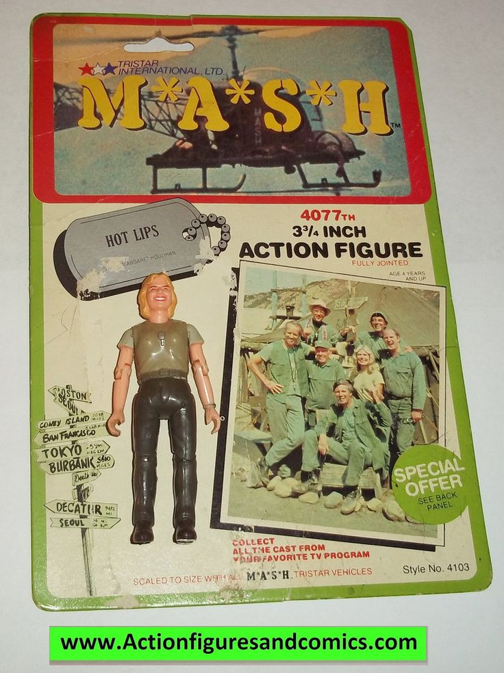M*A*S*H* mash tv series action figures HOT LIPS 1982 complete w full card