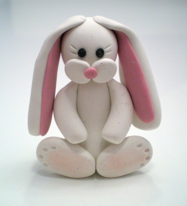 Easter Bunny - Handmade with Polymer Clay