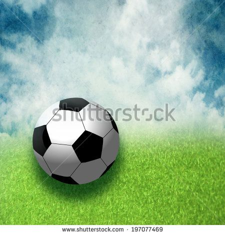 Soccer Ball sky and grass