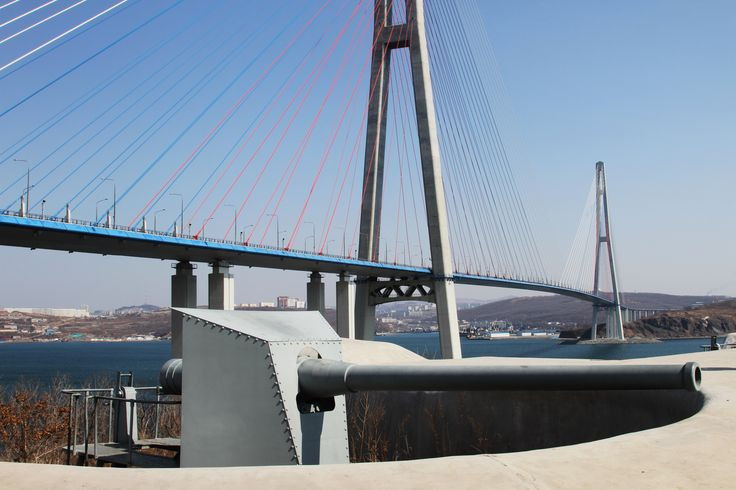 Russky bridge, fortress, filming location in Vladivostok, Primorye Film Commission