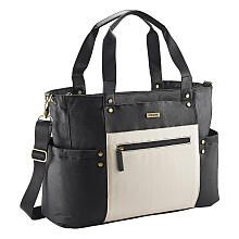 JJ Cole Arrington Tote Diaper Bag - Onyx and Ivory