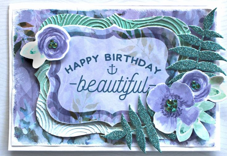 Kaisercraft Mermaid Tails & Glitter Cardstock - Birthday Card