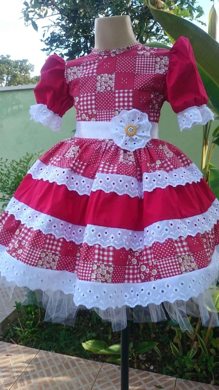 Vestido Junino Menina Carla da Liluart Roupas Infantis
