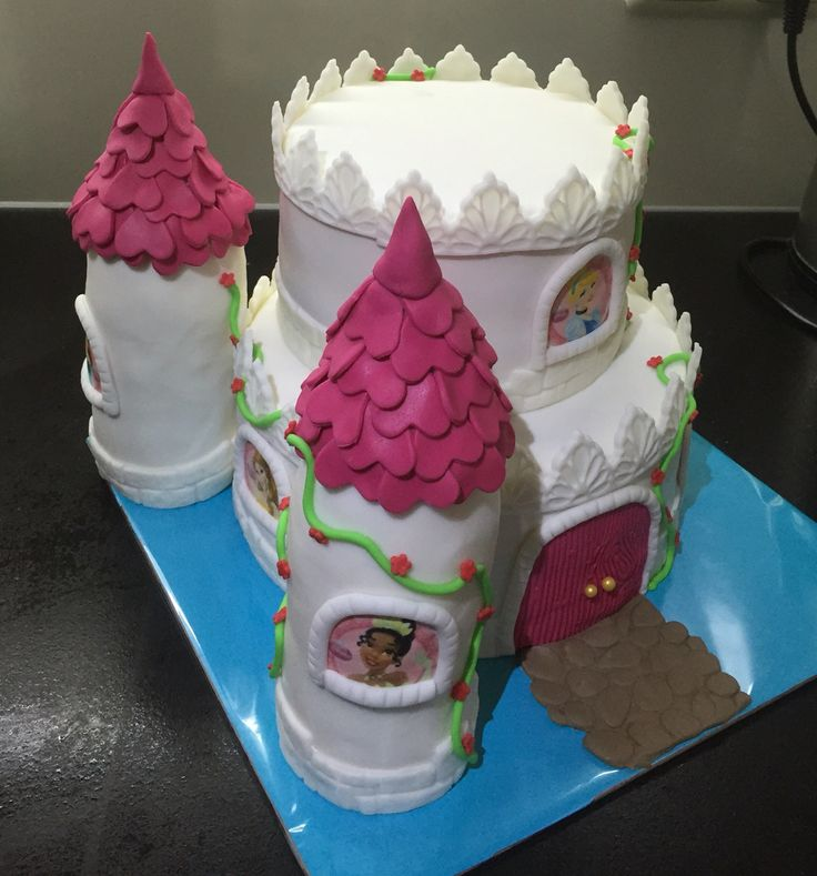 Prinsessenkasteel taart, december 2015