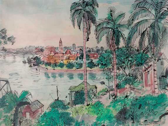Margaret Olley's Brisbane River