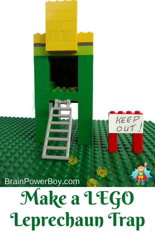 Make a LEGO Leprechaun Trap! A fun LEGO St. Patrick's Day activity.