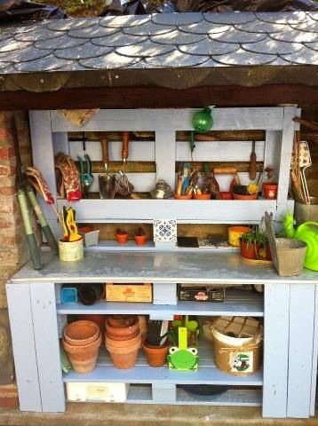 Pallets. Potting Bench. Garden