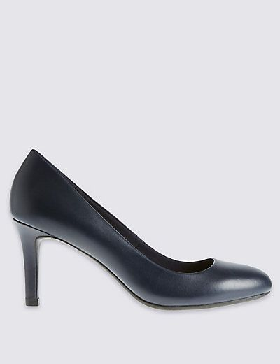 Leather Stiletto Court Shoes with Insolia® | M&S
