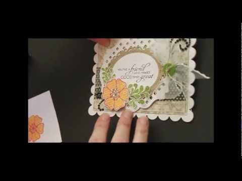 Stamping: Kissing Technique - YouTube - Adding texture (words, etc) to solid stamp + two-step stamp technique shown