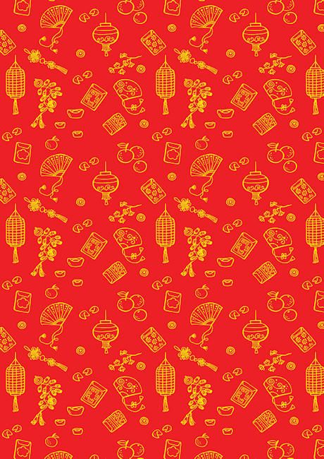 Chinese New Year items scrapbook paper