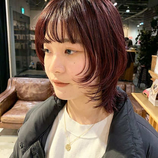 暗めの赤可愛い In 2020 Hair Hair Salon Hair Designs