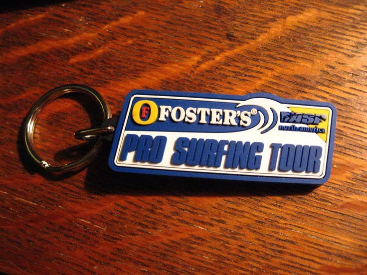 Foster's Pro Surfing Tour Keychain - Fosters Beer Surf Board ASF Surfer Keyring #FostersProSurfingTour