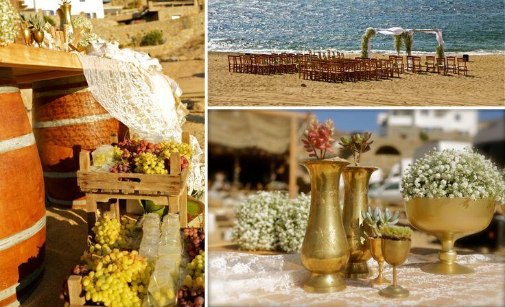Boho chic inspiration for a beach wedding!