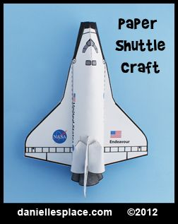 Paper Space Shuttle Craft for Kids from www.daniellesplace.com